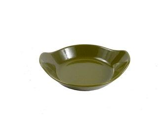 Vintage 60s COPCO Dish - 60s Copco Bowl - Michael Lax - Denmark - Danish Modern - Enamel Bowl - Enamel Dish - Olive Green - Enamel Bowl