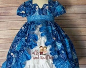 Emily princess dress with ruffled panel