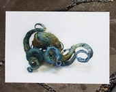 strange and gentle - octopus  - Original Giclee Edition Print - 13x19""