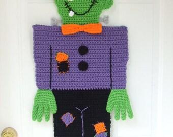 CROCHET PATTERN - CV136  Halloween Monster Door Hanging - PDF Download