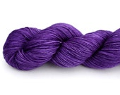 Purple Velvet--hand dyed sock weight yarn, MCN (435yds/100gm)