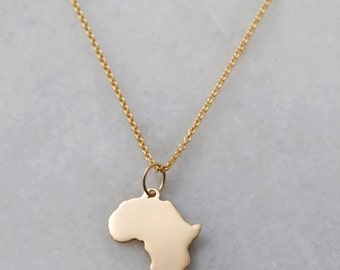10k Gold Africa + Chain