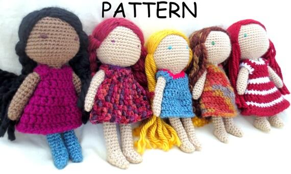 ON SALE Crochet Doll Pattern Amigurumi Doll Pattern Crochet