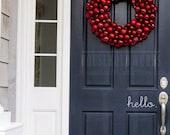 Hello Decal, Welcome Door Decal, Front Door Decals for Home and Office Decorations, Front Door Vinyl, Welcome Decal, House Door Decal