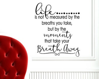 Wall Decal Words Decor, Living room decal, Inspirational, Family wall decal, Life decal, Classroom decorations, Gift for mom, wife Birthday