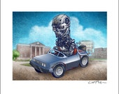 I'll Be Back To the Future Pedal Car 8 x 10 Signed Print