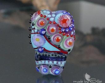 Handmade lampwork bead focal     Up!     free-formed     SRA     artisan glass    Silke Buechler