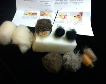 Pair Of Owls- Needle Felting Kit