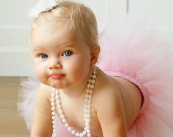 First Birthday Outfit Girl Tutu, Cake Smash Outfit Girl Tutu, 1st Birthday Outfit, Tulle Skirt, SEWN Tutu Skirt, 1st Birthday Tutu Gift