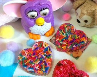 Yummy Sprinkles and Candy Resin Heart Brooch Pin