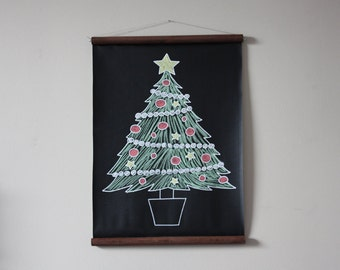 Chalkboard Christmas Tree // Alternative Christmas Tree // Small Christmas Tree // Kids Christmas Tree // Farmhouse Christmas //