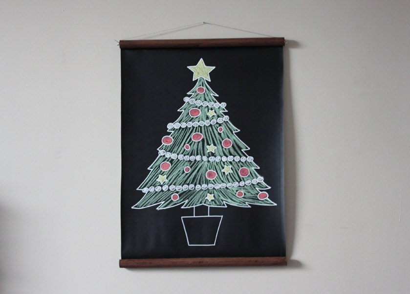 Chalkboard Christmas Tree // Alternative Christmas Tree