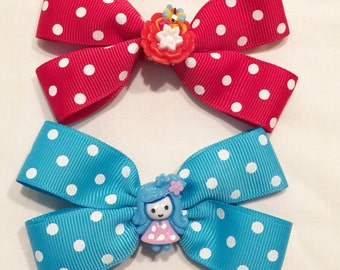 Girl Hair Bows Babies Toddlers Girls Red Blue Bows