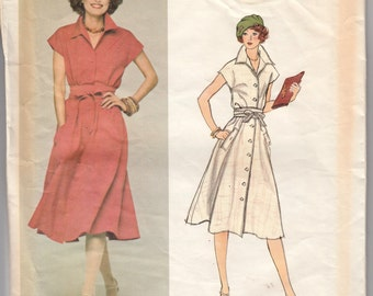 "Vintage Sewing Pattern Ladies Dress 1970's Vogue 1245 Couturier Design Nina Ricci 38"" Bust - Free Pattern Grading E-book Included"