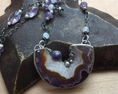 Reserved - Custom Order for Jena - Druzy Agate Necklace