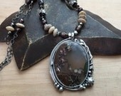 Reserved - Custom Order for Jena - Priday Plume Agate Vine Necklace