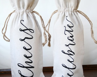 Wine gift bag Gift bags Cheers wine Bag Thank you gifts