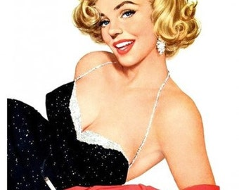 Marilyn Monroe Pin Up Girl Reproduction Fabric Crazy Quilt Block Free Shipping World Wide