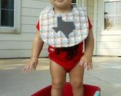 I Heart Texas Classic Bib- Plaid