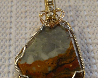 4228 Storm on the Prairie (Picture Jasper) Pendant