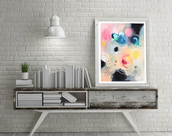 Painting, abstract painting, acrylic, watercolor, modern art, wall art, home decor, wall decor, wedding gift, colorful art, gift for her