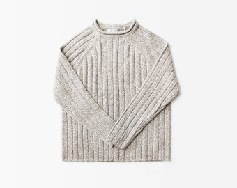 1990's Pull Over Ribbed Roll Neck Sweater