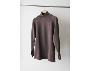 SALE - 1990's Guess USA Dark Brown Turtle Neck Sweater