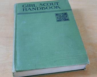 Vintage Girl Scout Handbook 1936 • Green Hardcover Vintage Girl Scout Book