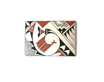 Vintage Acoma Pottery Box, Native American Art, Natural Home Decor