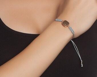 Golden Square Bracelet