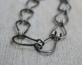 Lucky Horseshoe Bracelet. Sterling Silver Chain Bracelet. Link Bracelet.