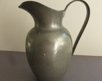 Rescued Vintage 6 Inch E. Dragsted Danish Pewter Pitcher