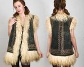 SALE- Suede Lambswool Coat