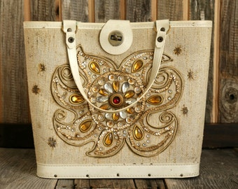SALE - Vintage Bedazzled Purse
