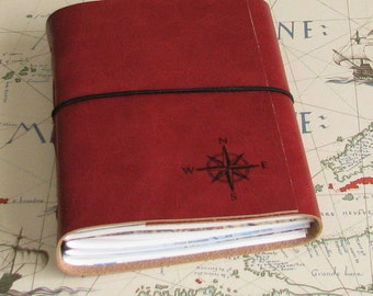 explorer journal with maps a travel journal in holiday edition - red