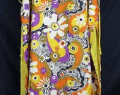 Vintage Hostess Wear Flower Power Maxi Tunic