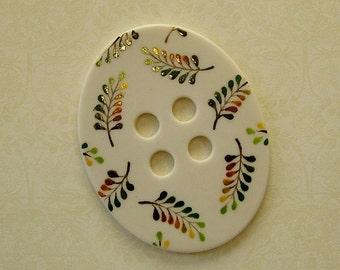 Leaf Oval Button