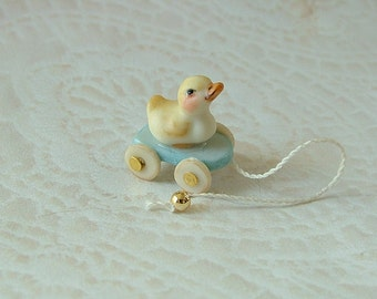 Duck Pull Toy blue