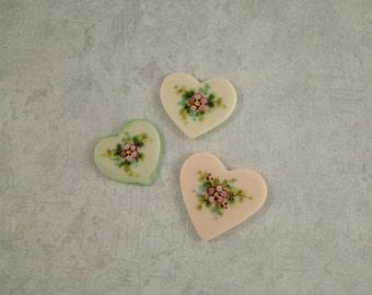 Heart Embellishments set of 3