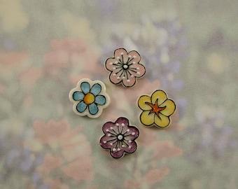Flower Embellishment set of 4