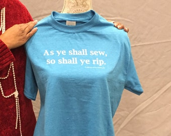 Sew/Rip Hand-Screened Shirt