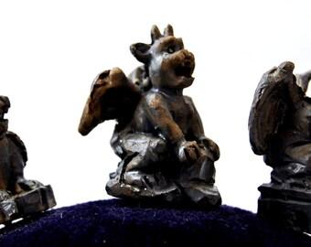 Gargoyle Push Pin set of three