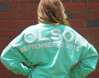 Personalized Mint Preppy Bridal Party Jersey