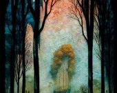 Eternal Glow of the Celestial Peaks - Print