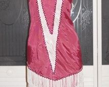 Vintage Southern Belle Ruffled Ball Gown 3 Tiered Dress Halloween Costume