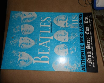 THE BEATLES Authentic 1960 era Cardboard Clothing Tag> HIS Tag > rare item