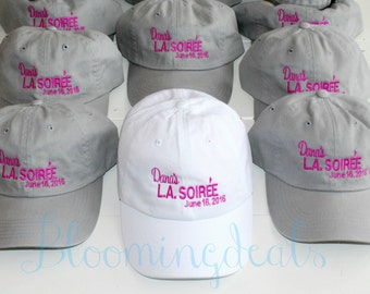 Baseball Cap Custom Quote Bachelorette Party Set of 12 Bachelor Party Beach Hats  bio washed