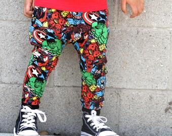 Baby Boy Baby Girl Marvel, Avenger, Comic Book, Hulk, Spiderman Harem Pants: Etsy kid's fashion, toddler boy toddler girl, superhero pants