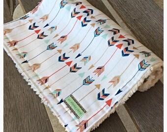 Arrow Chenille Burp Cloth