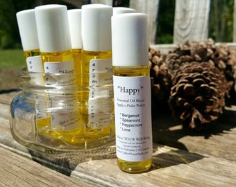 Happy Essential Oil Blend - Aromatherapy - Rollerball Perfume
